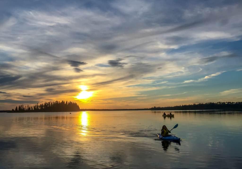 Elk Island National Park is a point of interest in Alberta near Edmonton