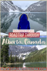 Alberta, Canada has some of the most beautiful places I've ever visited. Discover the most amazing places to include on a road trip or visit to Alberta in this post! #Alberta #Canada #Roadtrip