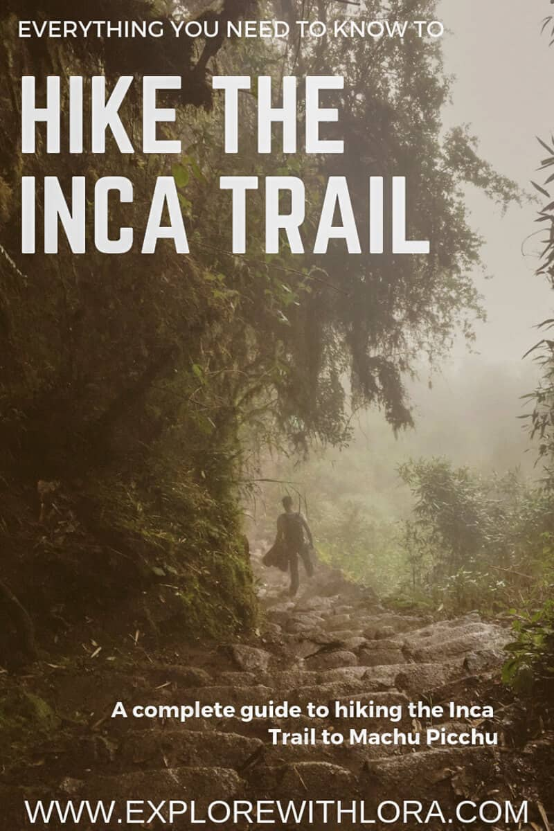 The complete guide to hiking the Inca Trail to Machu Picchu in Peru, one of the world's most popular treks. Find out everything you need to know about preparing for hiking the Inca trail in this comprehensive guide, plus tips for avoiding altitude sickness. #peru #trekking #incatrail | Inca Trail Machu Picchu Peru
