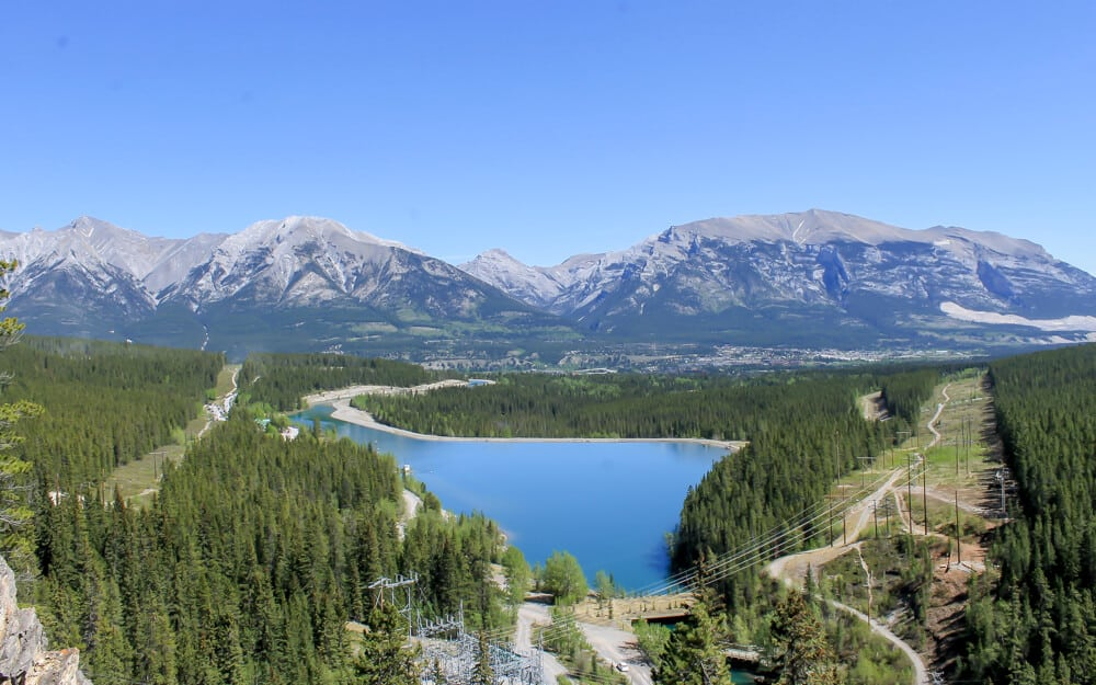 Grassi Lake viewspoint is one of the best places to go in Banff Alberta