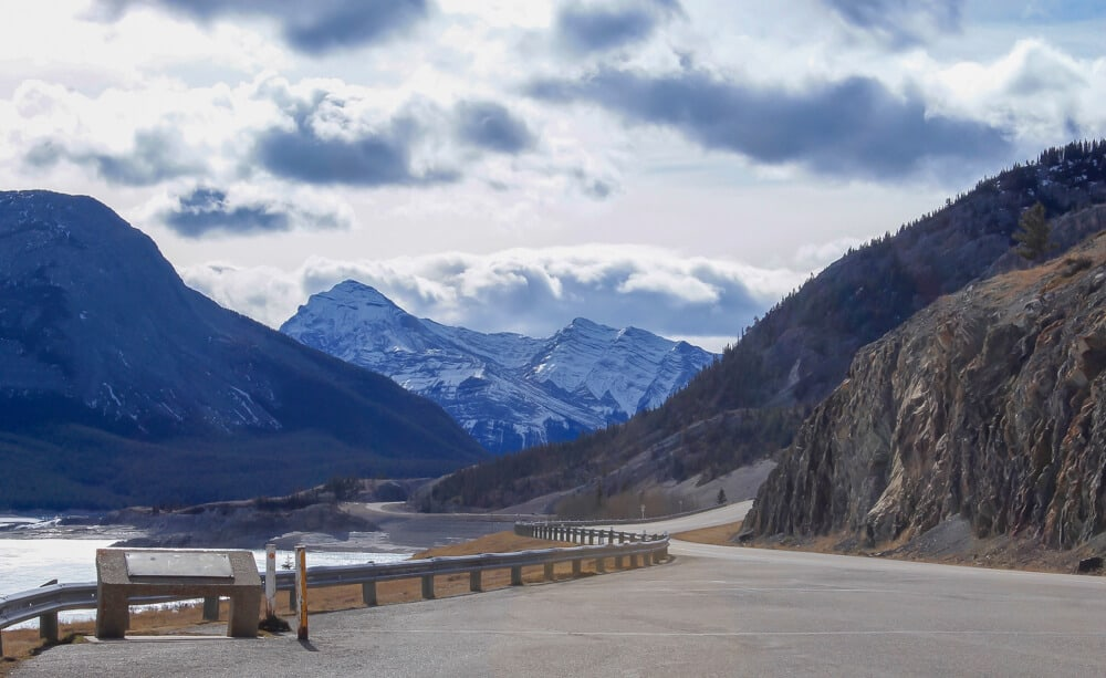 the Icefield Parkway between Banff and Jasper is a great alberta roadtrip