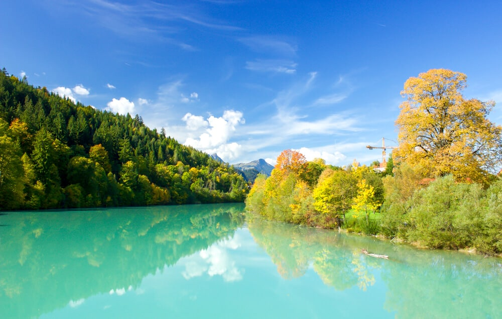 turquoise lakes in fussen germany