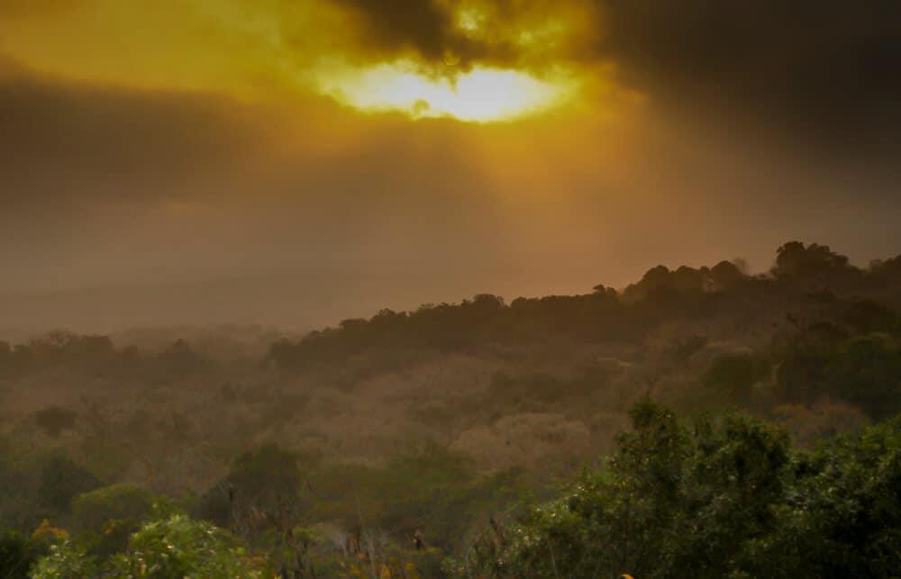 sunset over guatemala