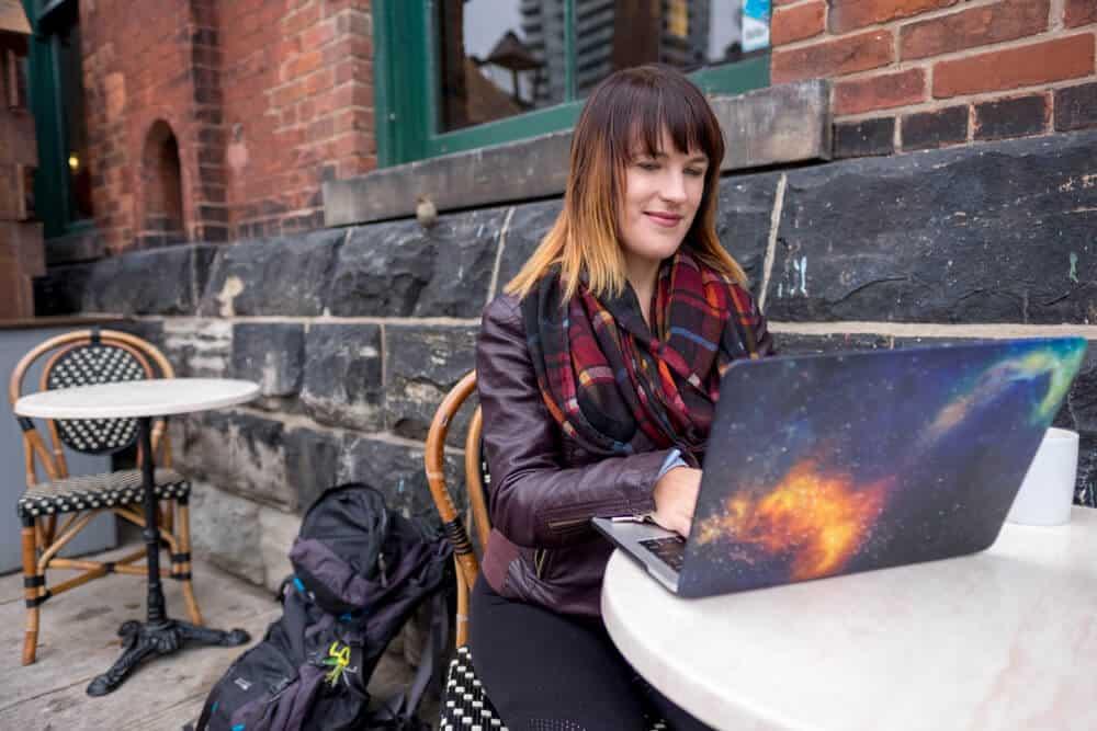 lora working on laptop