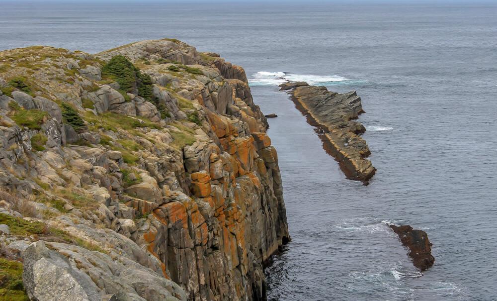 rock face in newfoundland