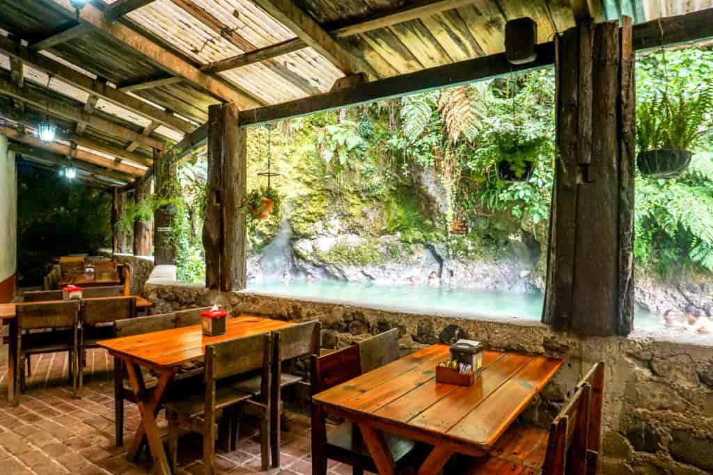 restaurant at fuentes georginas hot springs