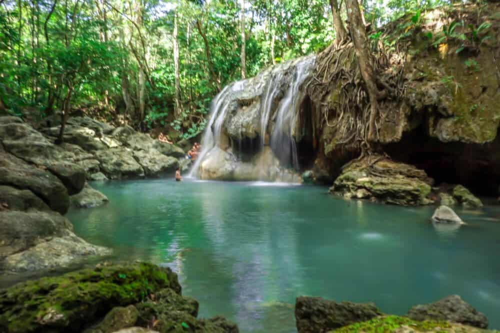 Natural Hot Spring Waterfall