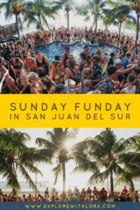 Traveling to Central America? Don't miss the biggest party, Sunday Funday in San Juan Del Sur, Nicaragua. Check this guide for everything you need to know about Sunday Funday. #Nicaragua #CentralAmerica