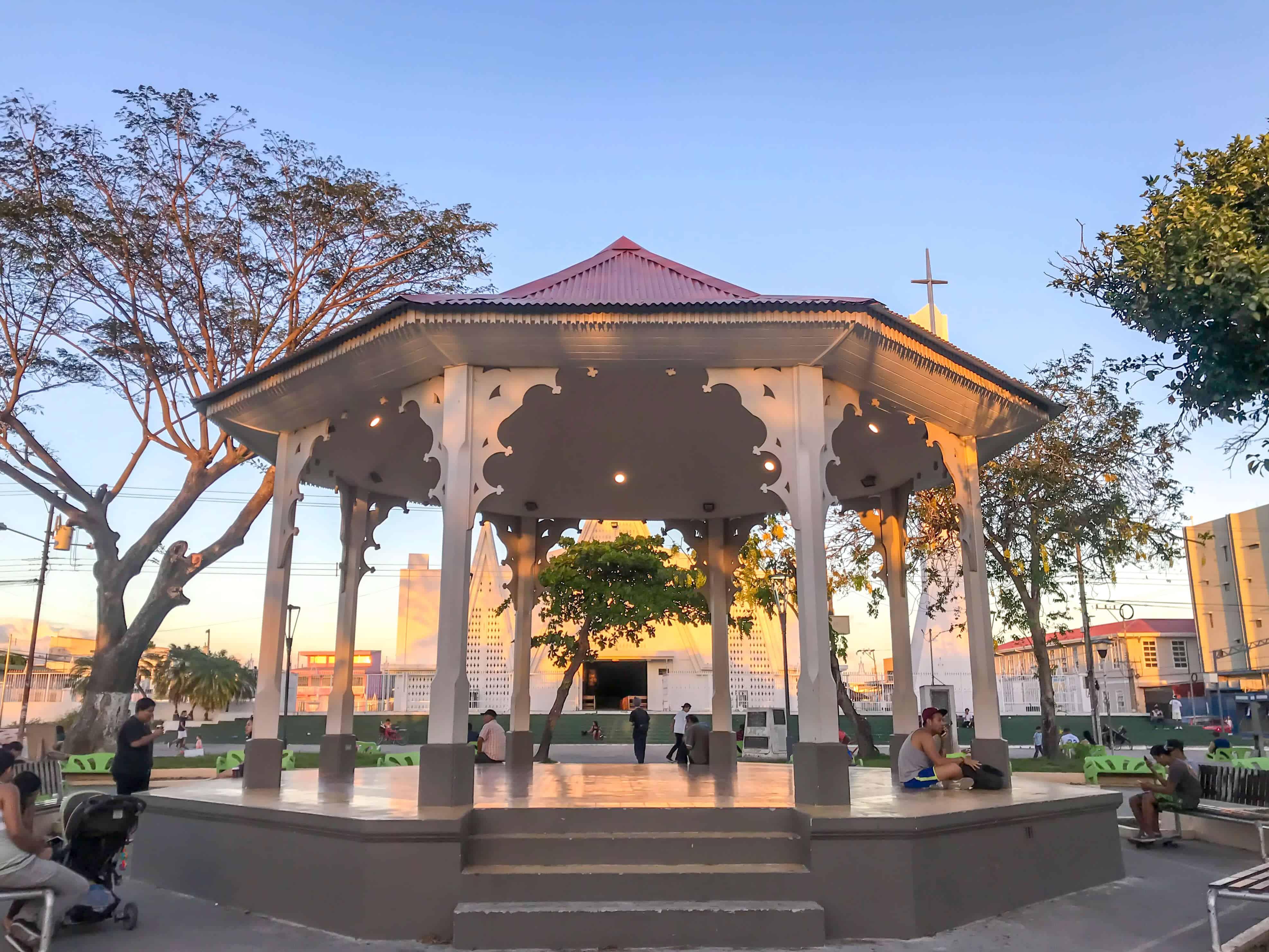 main square in Liberia, Costa Rica