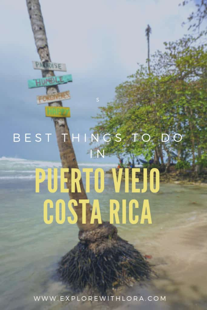 Puerto Viejo is a small town on the Caribbean side of Costa Rica with its own unique vibe from the rest of the country. Discover the best things to do and see in Puerto Viejo. #PuertoViejo #CostaRica #CentralAmerica