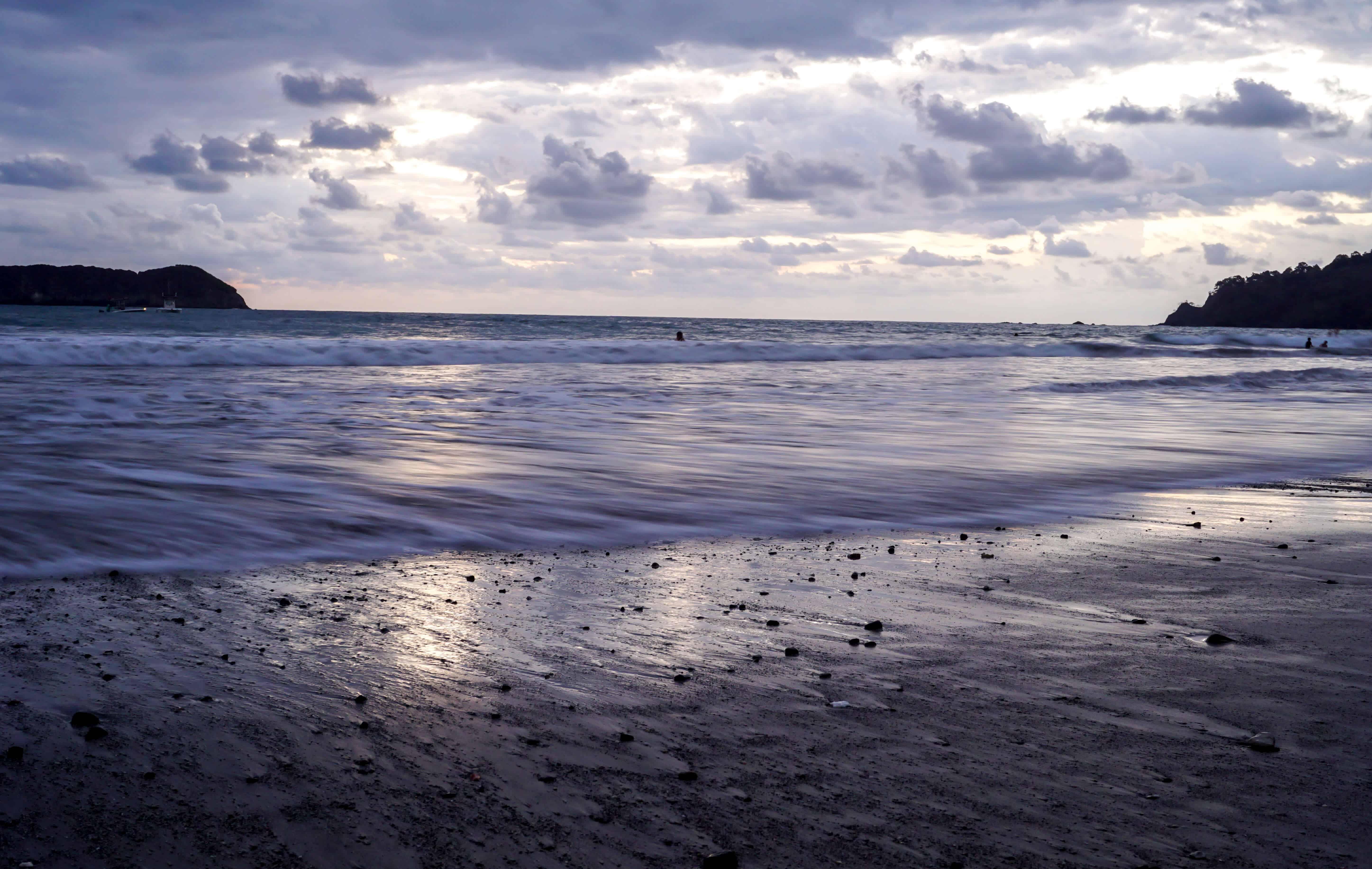 purple sunset in costa rica