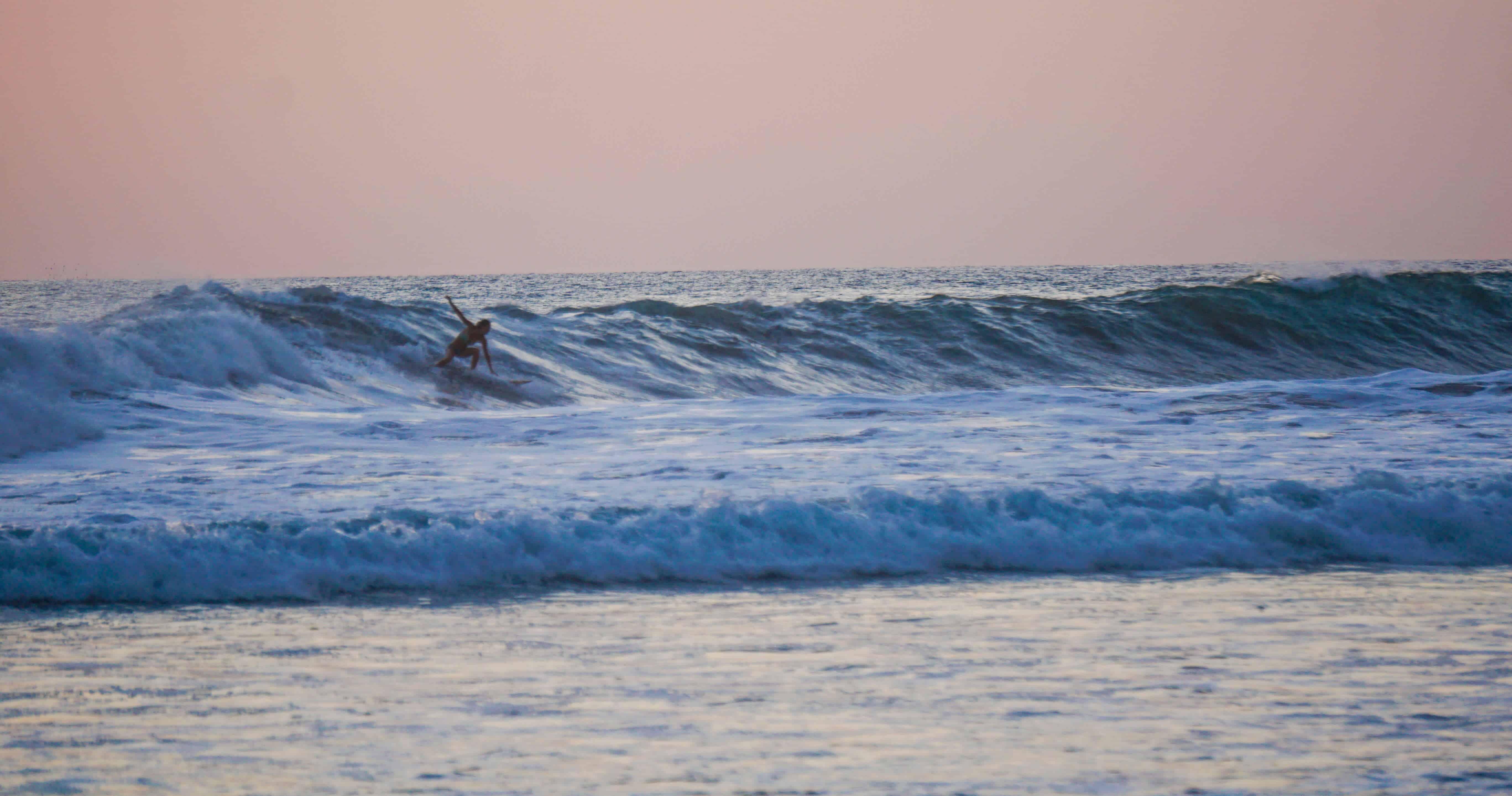Surfer in Santa Teresa