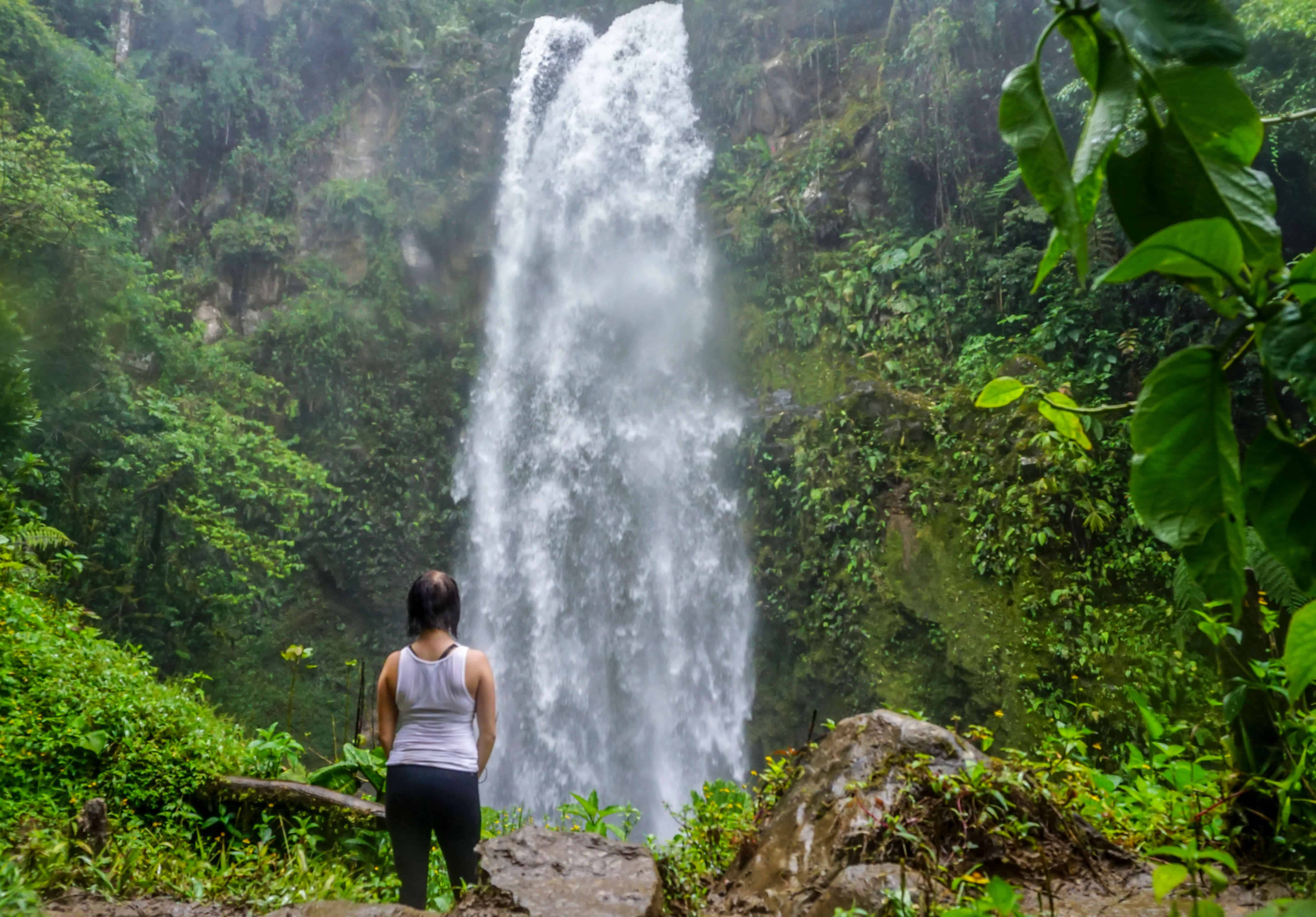 Lost waterfall hike in Boquete, Panama.