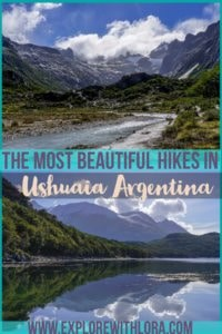 pinterest pin hiking in ushuaia