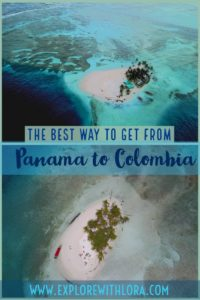 The best way to get between Panama and Colombia is to sail or take a speed boat through the beautiful San Blas islands. Find out how to visit the San Blas islands in this post. #SanBlas #Panama #Colombia