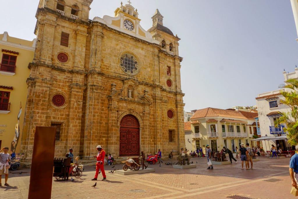 Plaza San Pedro Claver in Cartagena, Colombia