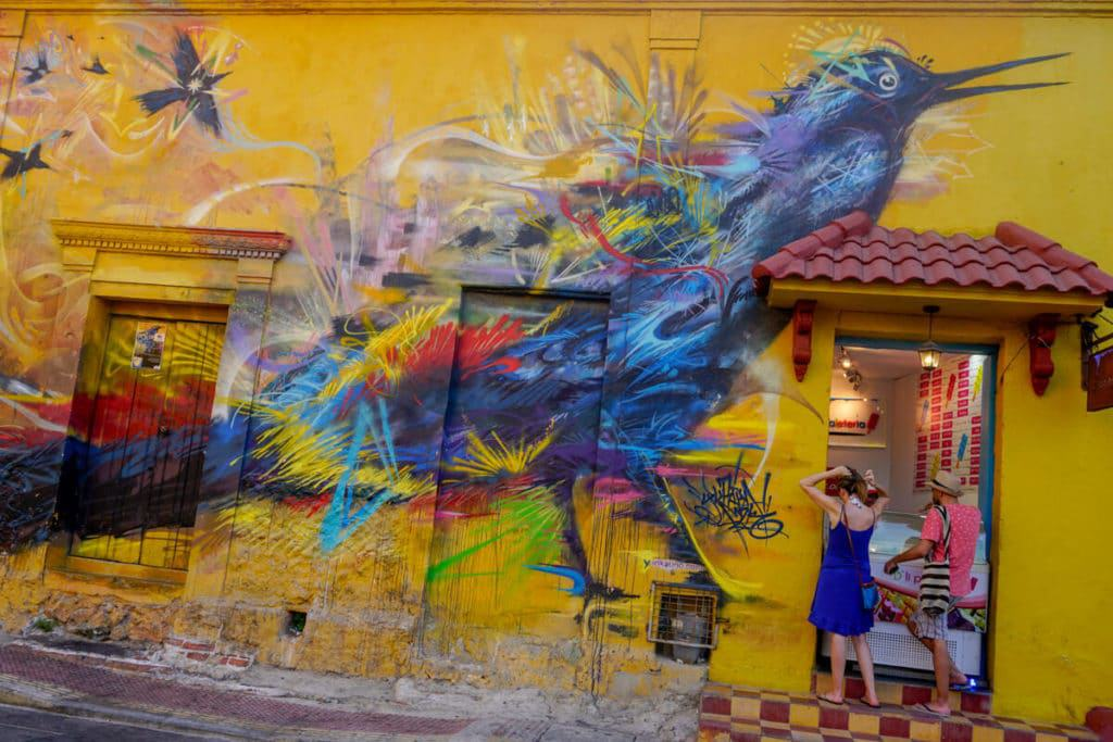 Graffiti in Cartagena Colombia