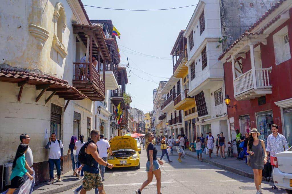 Walking around Centro, in Cartagena Colombia