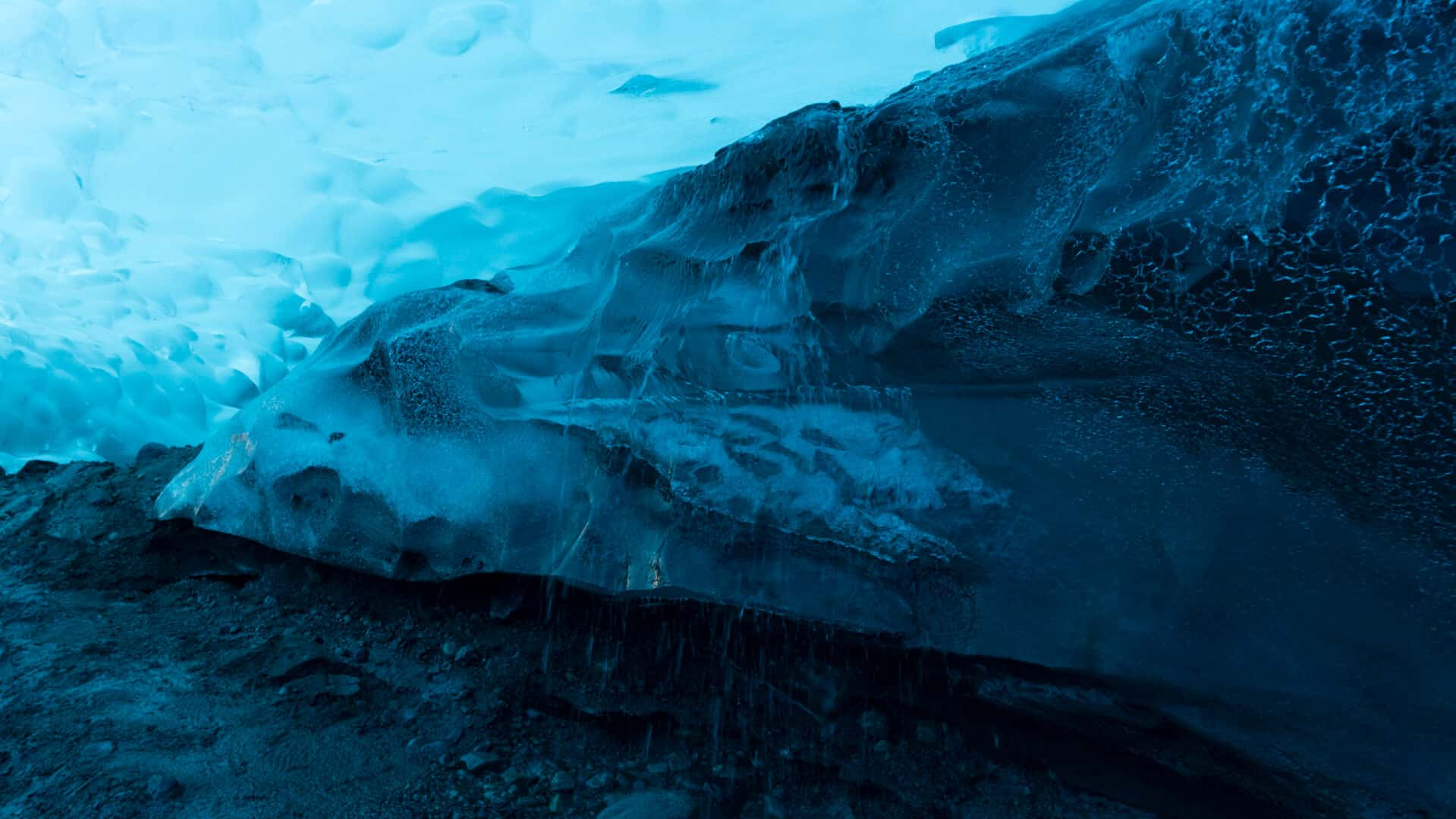 Ice Formations inside the glacier
