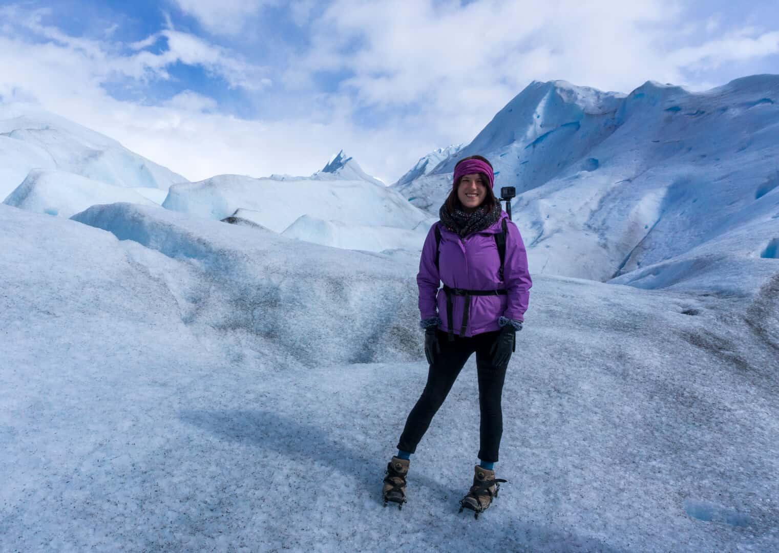 lora Trekking on perito moreno glacier