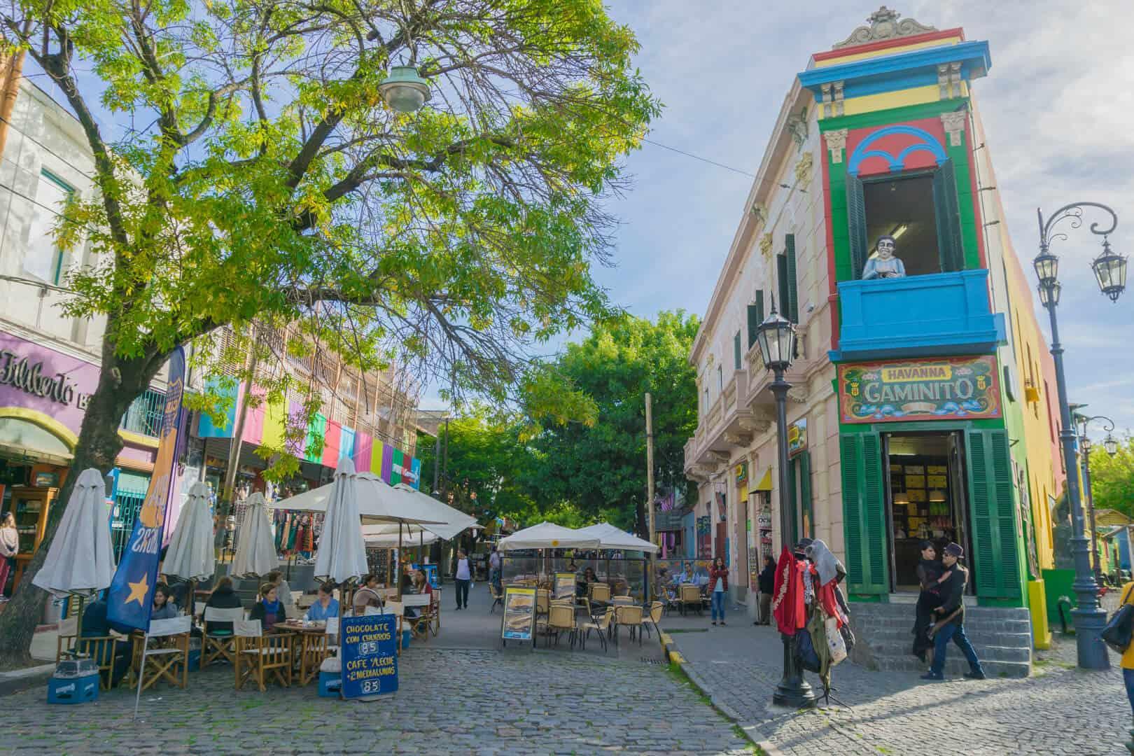 Beginning of Caminita Street in La Boca