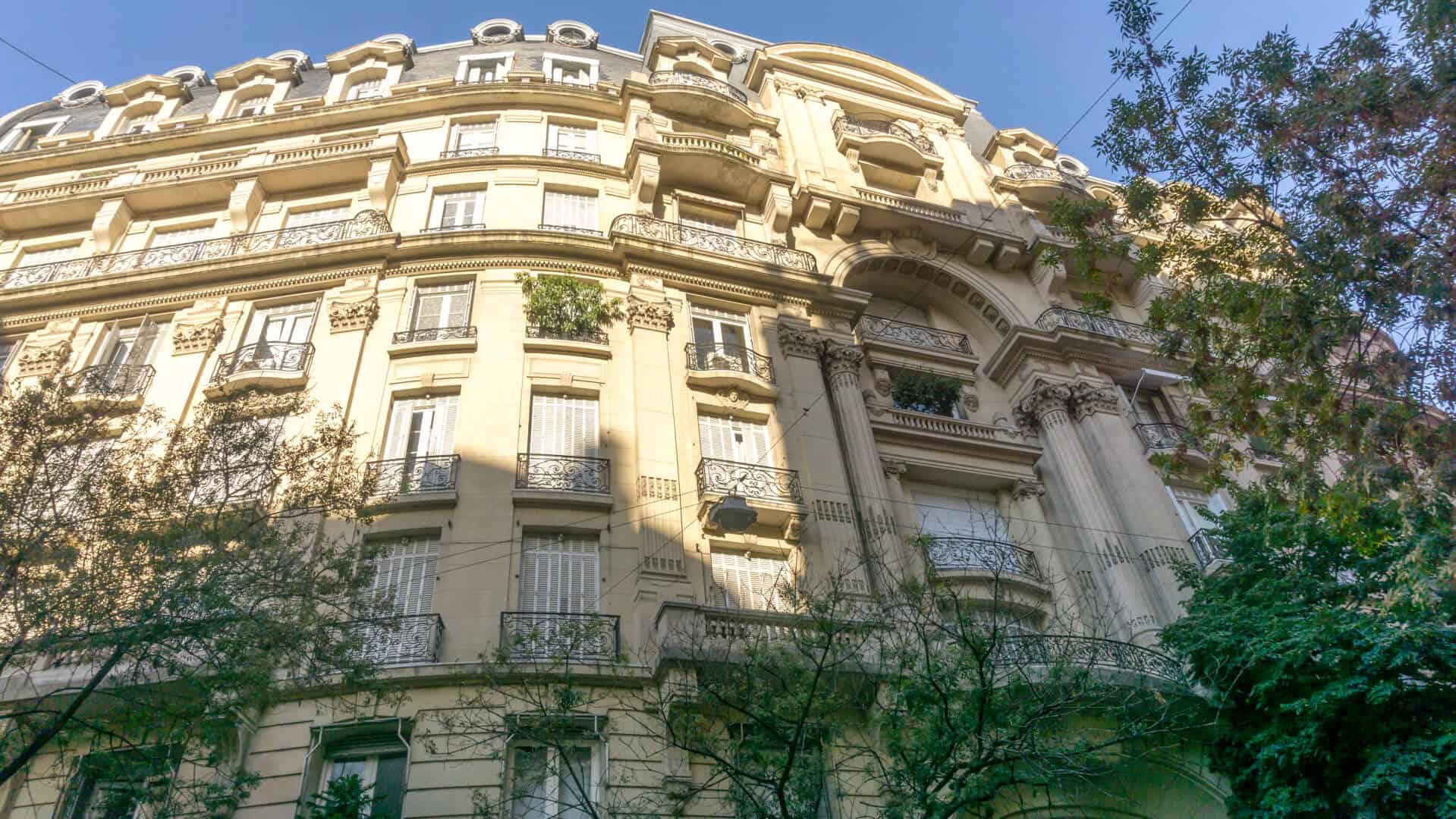 A french style building in Recoleta, Buenos area