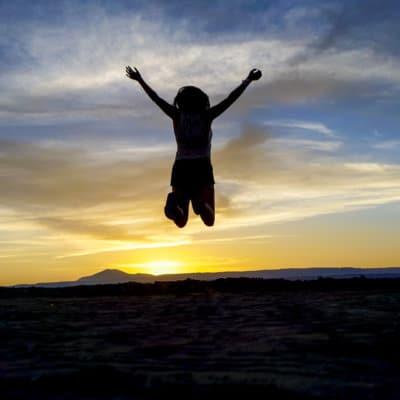 Jumping over the sun in San Pedro de Atacama