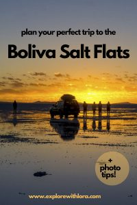 Don't miss this Bolivia Salt Flats on your South America Adventure. This natural wonder is one of the best things to see in South America. Discover the best way to visit the Salt Flats of Bolivia in this post, including tips for taking awesome photos at the Salt Flats. #Bolivia #SouthAmerica #SaltFlats #PhotoTips #Backpacking #VisitBolivia