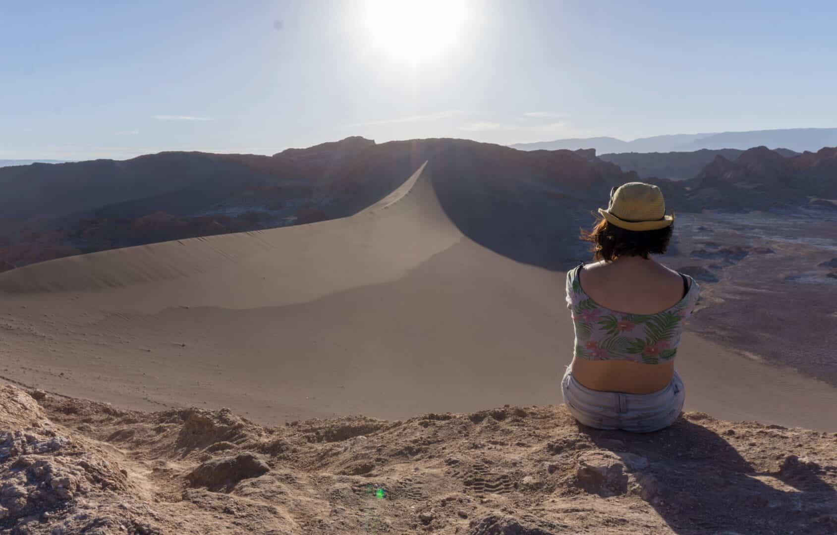 Sand Dunes near Moon Valley in San Pedro de Atacama