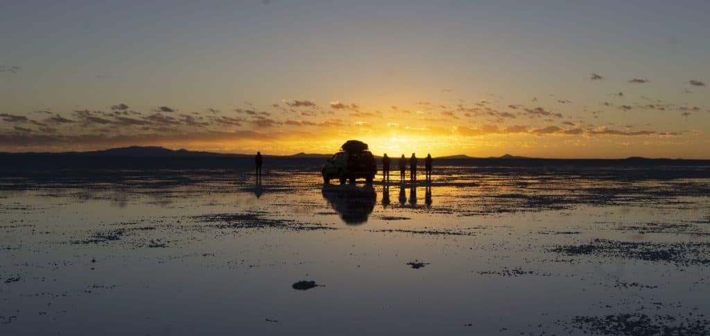 Sunrise on a salar de unuyi salt flats tour
