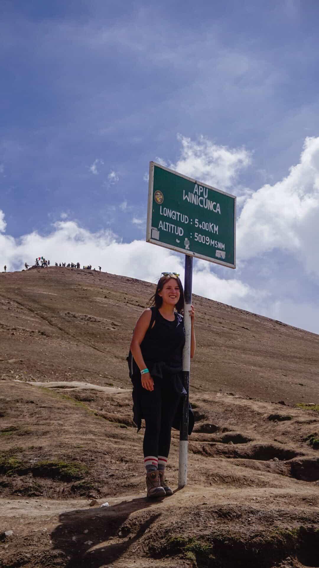 Lora hiking rainbow mountain