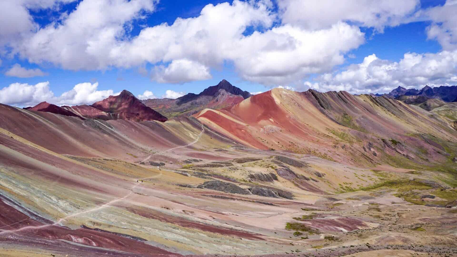 Panoramic view of rainbow mountain