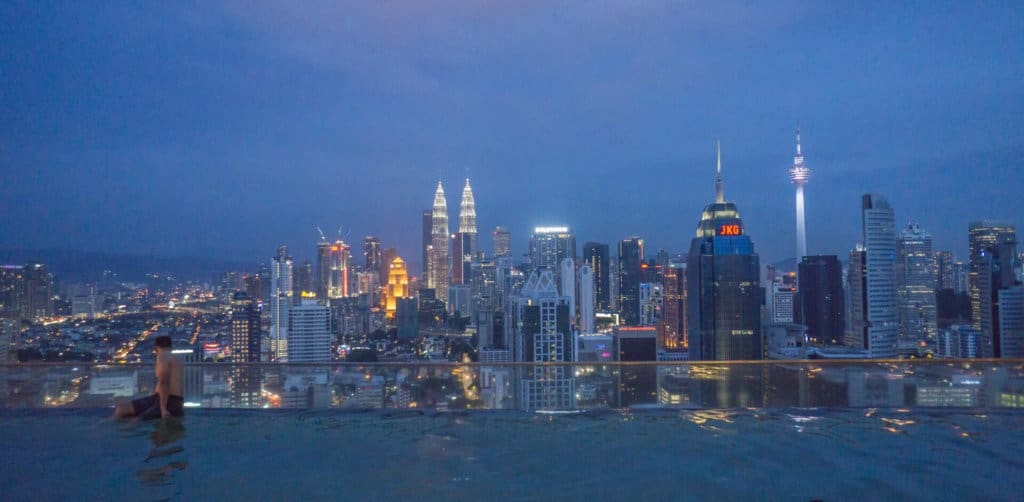 Going to a rooftop pool is things to do in Kuala Lumpur in 3 days