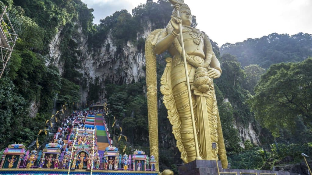 Visiting Batu Caves is a great way to spend one day in Kuala Lumpur