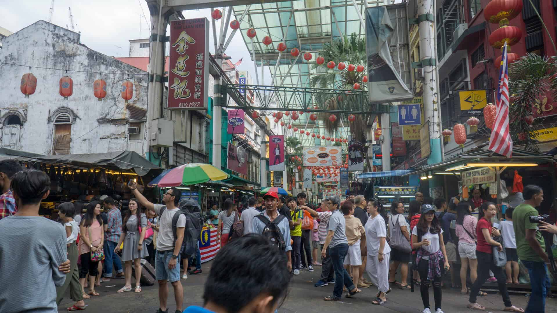 Visiting China Town is a perfect thing to do with one day in Kuala Lumpur