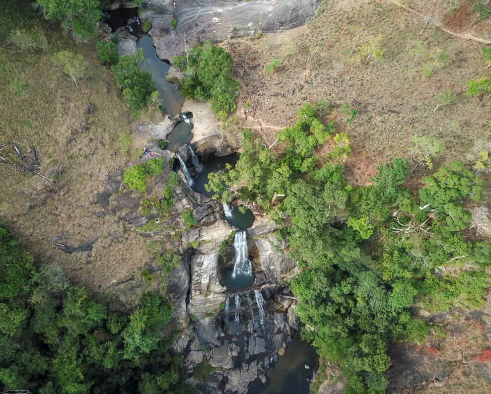 Diyaluma falls in Ella, Sri Lanka