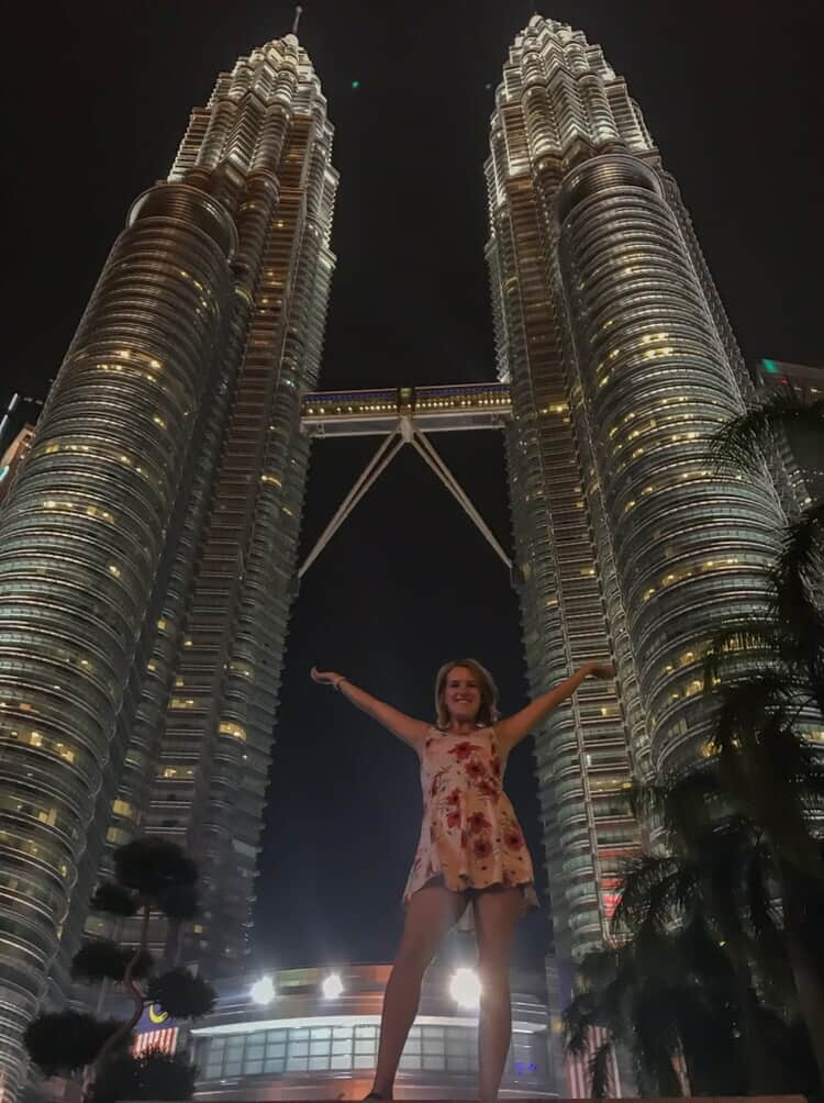 Visiting the twin towers on a weekend Kuala Lumpur
