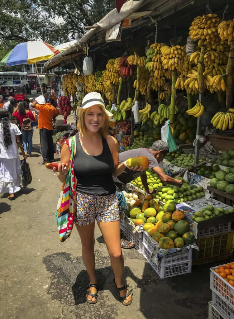 fruit markets on a day in Kandy