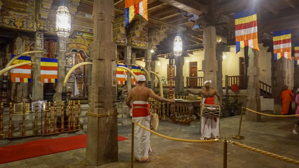 take the train to Kandy to visit temple of the tooth