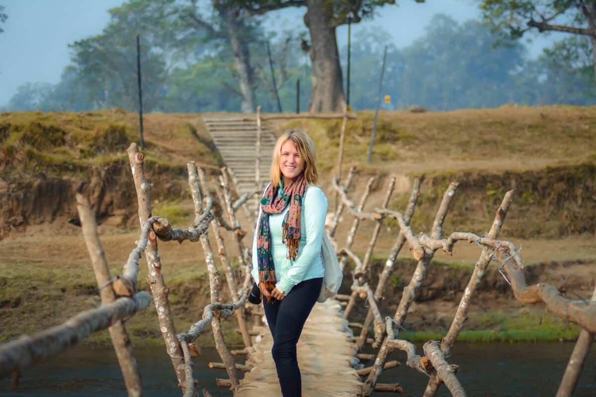 Walking through Chitwan National Park