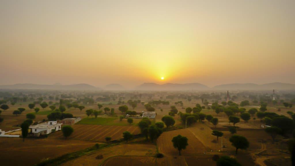 Sunrise over Jaipur from the hot air balloon