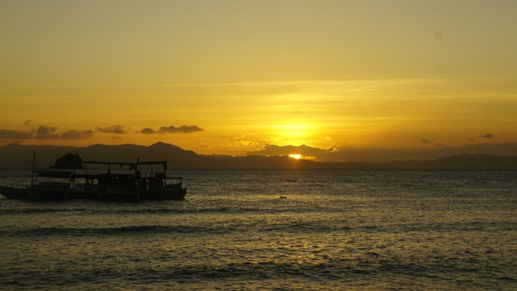 Watching a beautiful sunset TAO Philippines Expedition