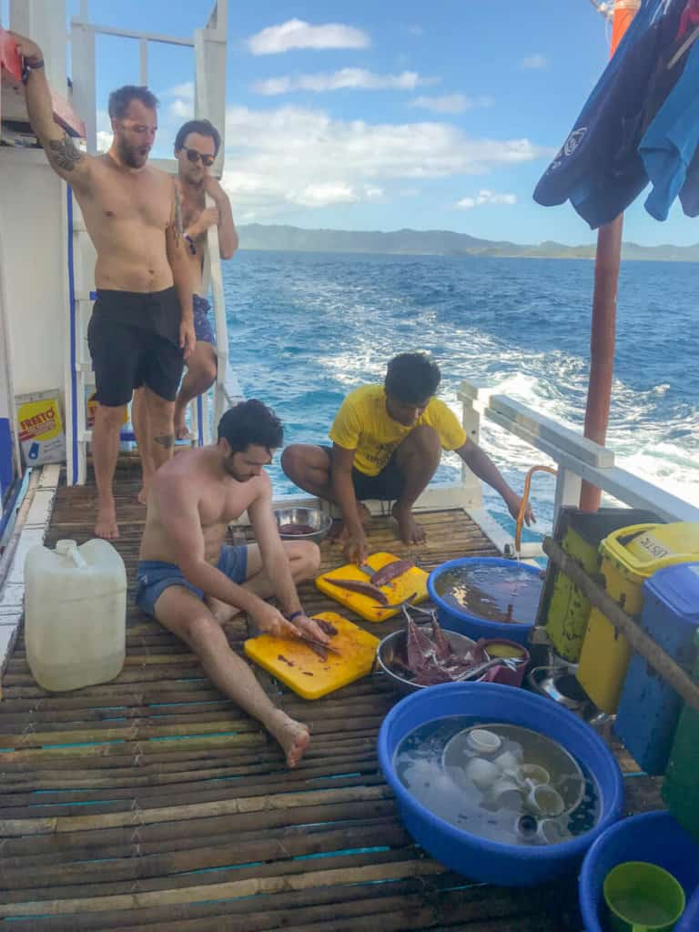 Learning to cook on a TAO Philippines Expedition