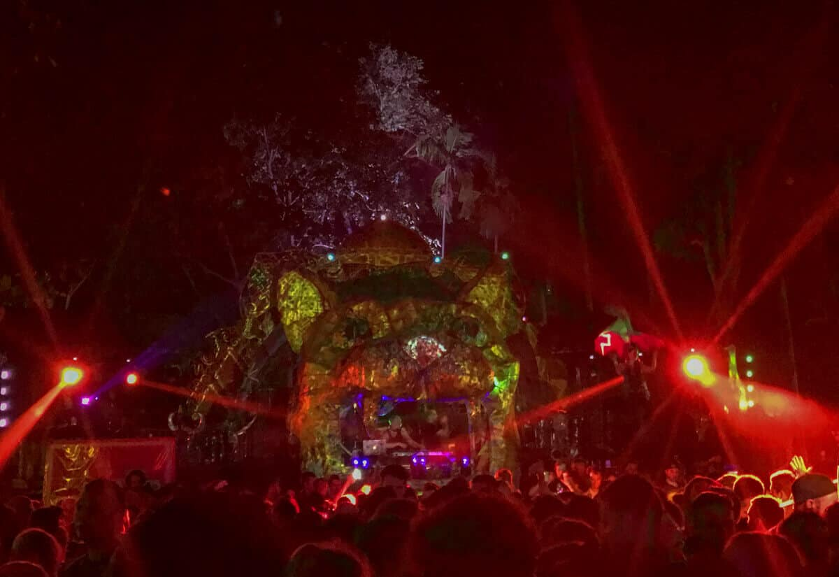 Jungle Party in Koh-Phagnan, Thailand, a tropical paradise island in Asia