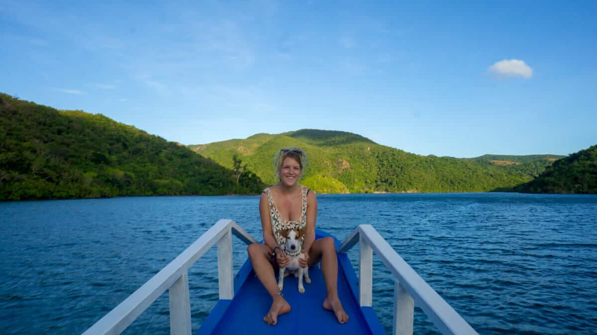 Me and the dog on the TAO Philippines boat