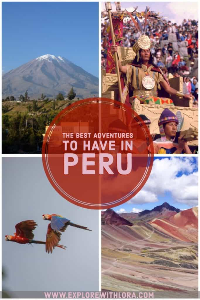 Planning a trip to Peru? Don't miss this guide featuring the best treks, cultural experiences, wildlife encounters, and other outdoor adventures to have in Peru, as recommended by travel bloggers! #Peru #Trekking