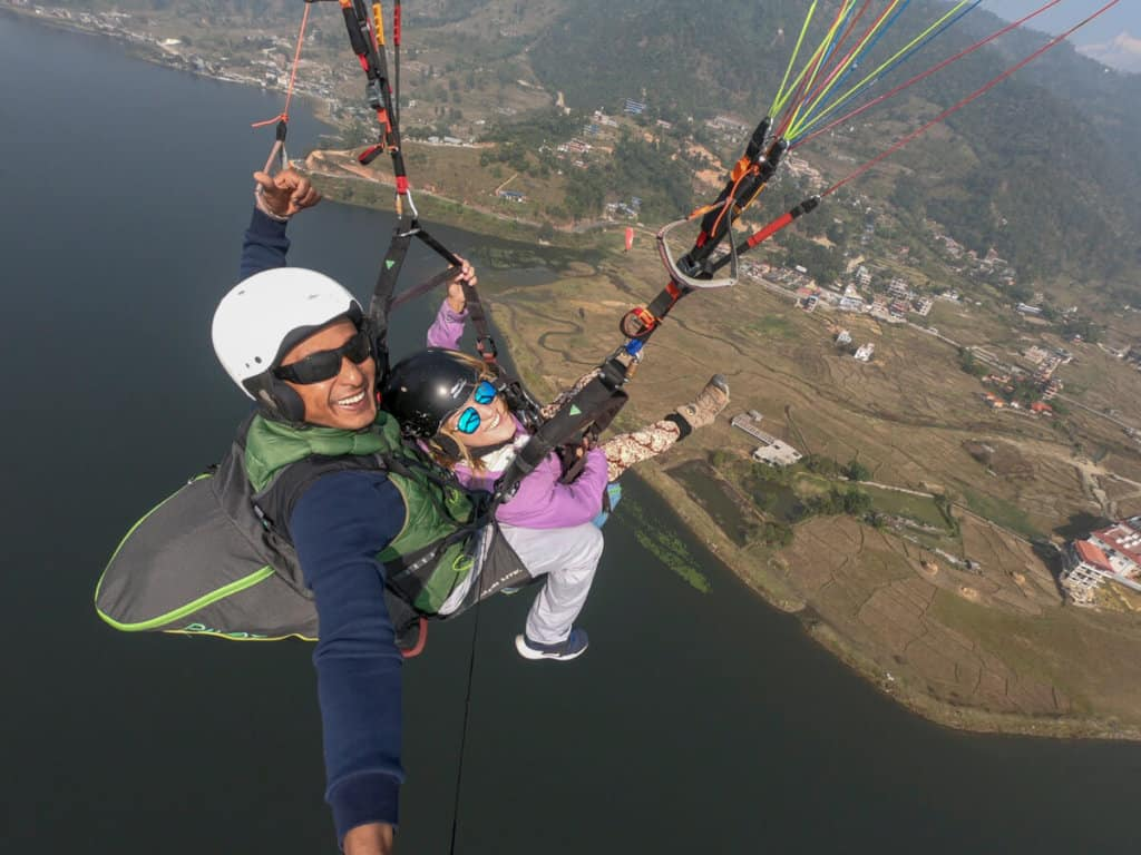 Paragliding in Pokhara
