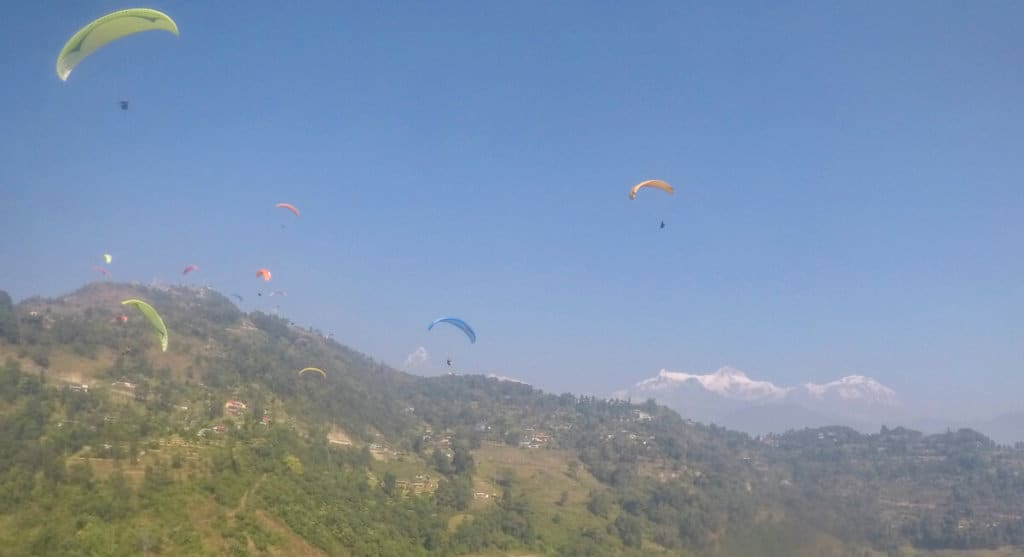 Views while Paragliding