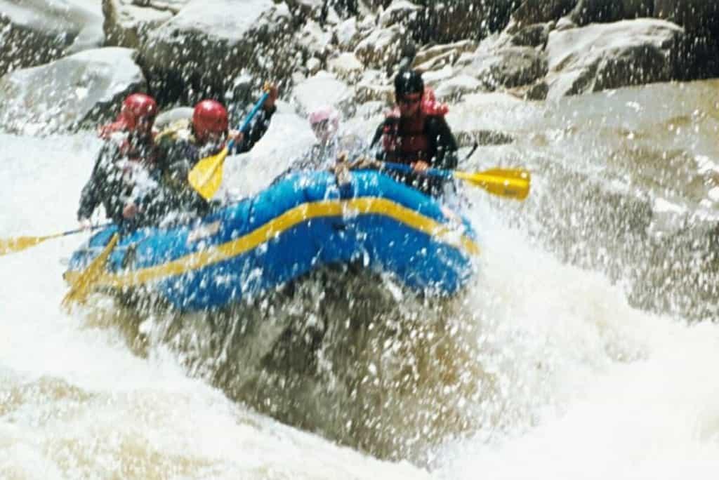 white water rafting activities Peru