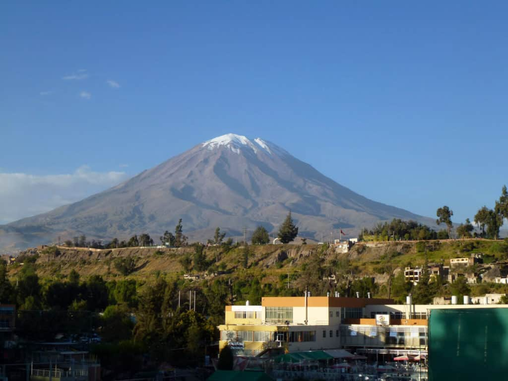 El Misti Volcano trekking Peru